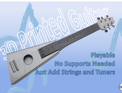 3D打印的吉他--真的可以弹哦!
